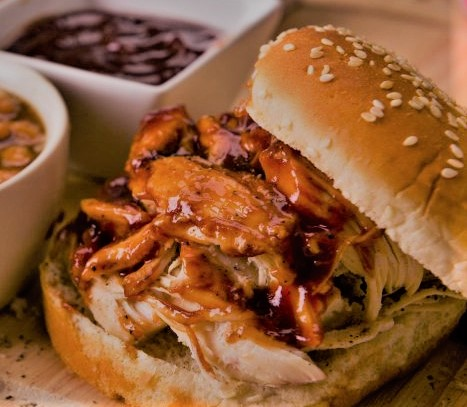 Pulled Chicken in BBQ Sauce Image